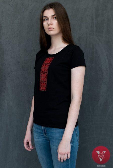 Вышимайка женская с красной вышивкой
